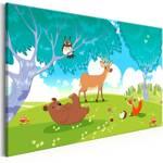 Obraz - Przyjazne zwierzęta (1-częściowy) szeroki