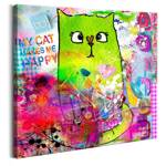 Obraz - Zwariowany kot