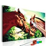 Obraz do samodzielnego malowania - Malowanka - Konie