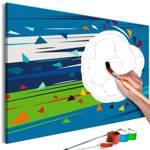 Obraz do samodzielnego malowania - Strzał i gol!