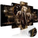 Obraz na szkle akrylowym - Brązowe słonie [Glass]