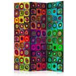 Parawan 3-częściowy - Kolorowy abstrakcjonizm [Room Dividers]